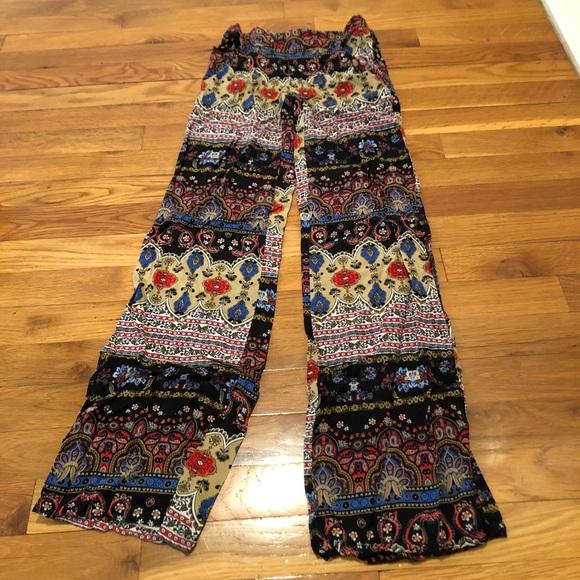 d58537204 BCX Pants | Patterned Wide Leg Palazzo Xxs | Poshmark
